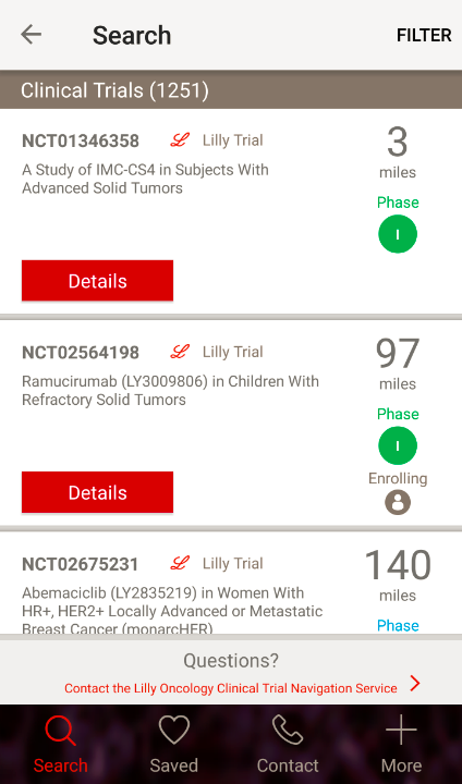 Lilly Oncology CT App- screenshot