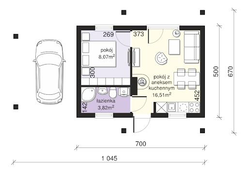 Dom przy Bukowej 35 - Rzut parteru