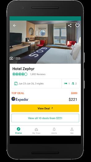 Screenshot 1 for TripAdvisor's Android app'