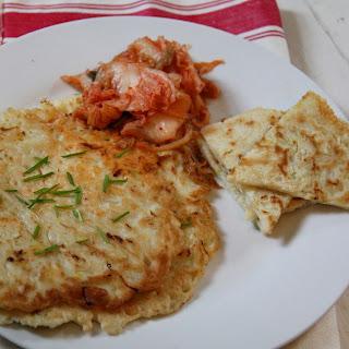 Korean Cabbage Pancakes.