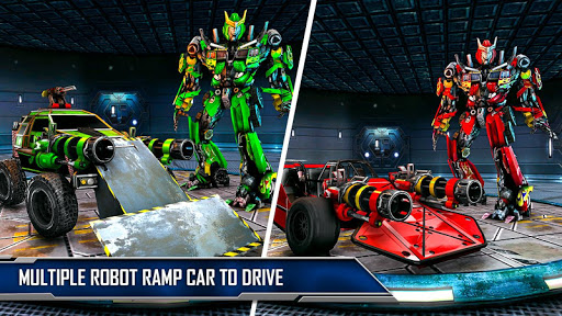 Ramp Car Robot Transforming Game: Robot Car Games screenshots 13