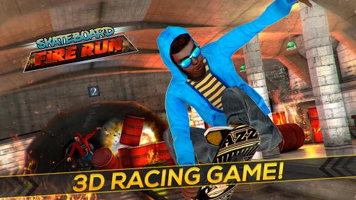 Skateboard Fire Run! 1.3.0 screenshots 7
