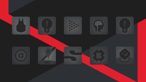matte black icon pack screenshot 1