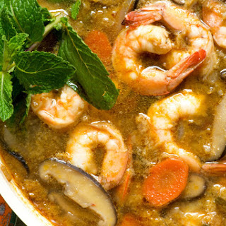 Sesame Ginger Shrimp and Cabbage Stew.