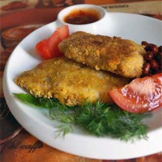 Fried Striped Pangasius Fillets in Batter