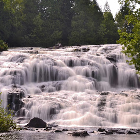 Bond Falls by Mandy Schram - Landscapes Waterscapes ( #waterfall, #agorgeousplace, #exploremichigan, #michigan,  )