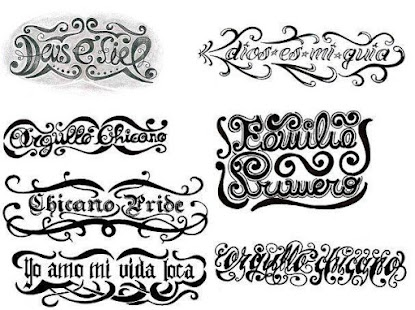 Umělecké Tattoo Písma - náhled
