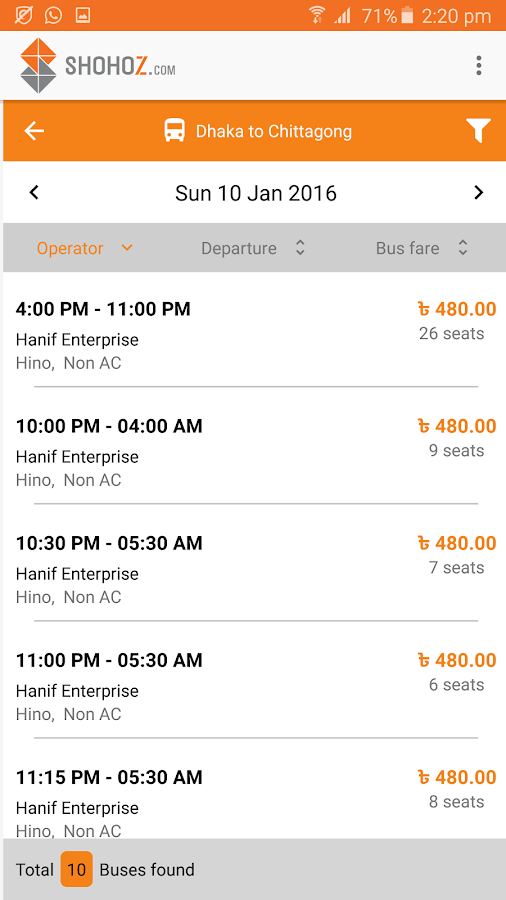 Shohoz - Buy Bus Tickets- screenshot
