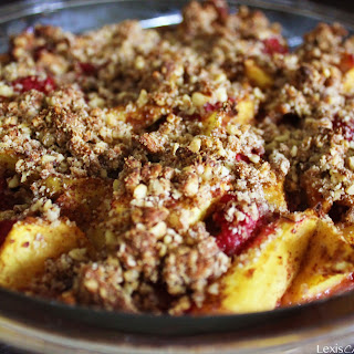 Raspberry Peach Crumble