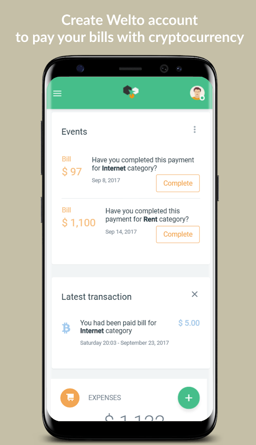 Welto: Pay bills with cryptocurrency- screenshot