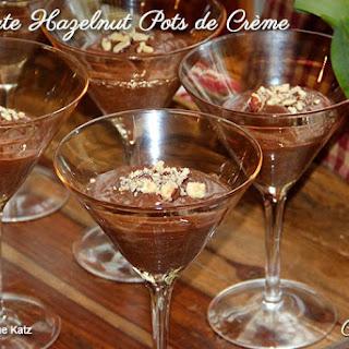 Chocolate Hazelnut Pots de Crème.