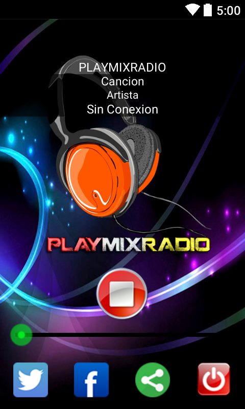 PLAYMIXRADIO: captura de pantalla