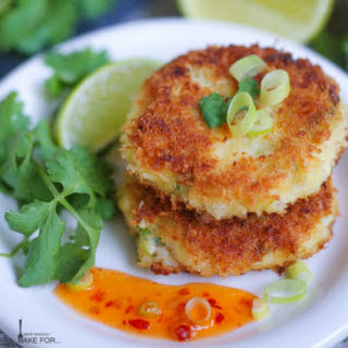 Thai-Style Crab Cakes with Sweet Chili Sauce.