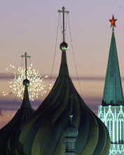 Photo: Fireworks explode over the Moscow's Kremlin, Sunday, May 7, 2000, marking the inauguration ceremony. Putin pledged to finish building democracy in Russia and restore the country to its world power status during his innaugural speech Sunday, which marked the first democratic transfer of power in the vast nation's history.  (AP Photo/Mikhail Metzel)