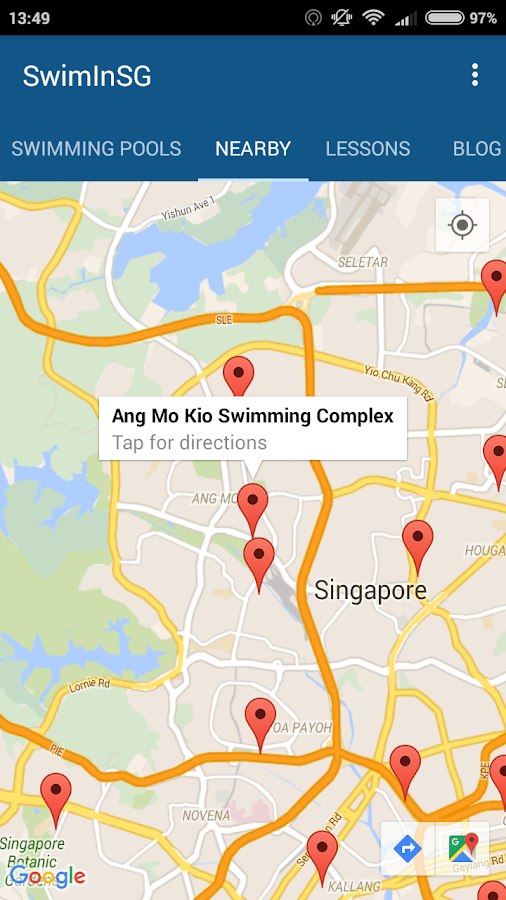 SwimInSG (SG Swimming Complex)- screenshot