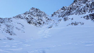 Photo: Our piece of work in the couloir