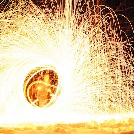 Paint with Fire by Micah Lopez - Abstract Light Painting ( sparks, fire, light painting, long exposure, glow, fire painting )