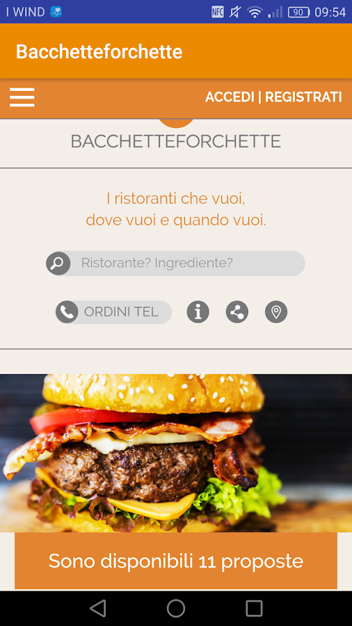 Bacchetteforchette- screenshot