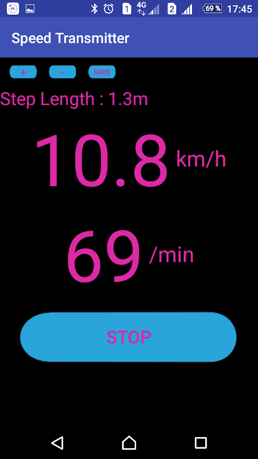 Treadmill Speed Transmitter- screenshot