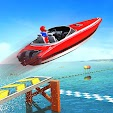 Water Surfer Speed Boat Stunts: Racing Games icon