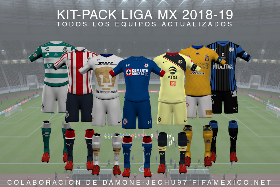 6cfdf997122 Kits Liga MX 2018-2019