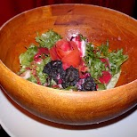 our bloody salmon salad at the Vampire Cafe in Tokyo in Tokyo, Tokyo, Japan