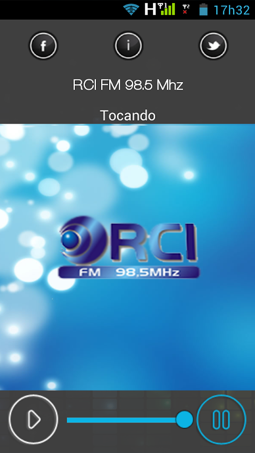 RCI FM 98.5 Mhz- screenshot