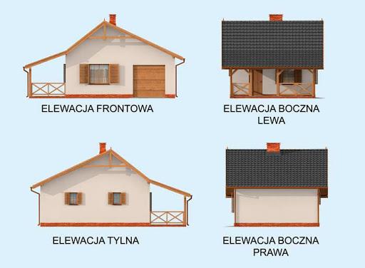 Bahia szkielet drewniany, dom letniskowy - Elewacje