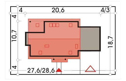 Ada wersja A z podwójnym garażem - Sytuacja