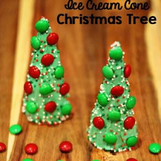 Ice Cream Cone Christmas Tree Treats Recipe