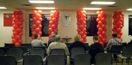 Photo: Columns behind the Author for the Humane Society of West Michigan's Home for the Holidays & Argus program adoption event with Author Jim Gorant (The Lost Dogs)