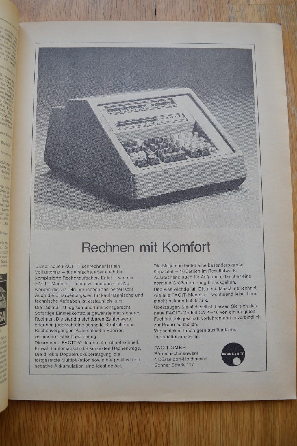 DER SPIEGEL, 29. April 1964 - Werbung für Rechenmaschinen