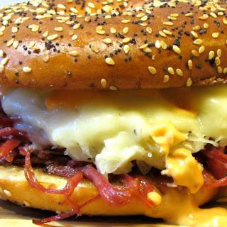 Guinness Braised Corned Beef Brisket Recipe - Reuben Sandwich