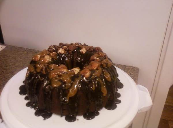 Traci Who Is A Member On The Site Posted This Cake Recipe ,so I Made It, And Let Me Tell U, It Looks Yummy, Made It For A Good Friend For Her Thanksgiving Day Feast! She`s A Big Chocolate Lover!