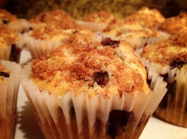 Blueberry Muffins With Strudel Topping Recipe