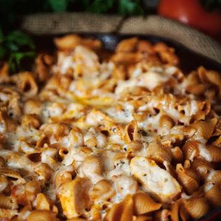Weeknight Skillet Chicken Parmesan Pasta