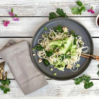 Pork & Rice Noodle Sauté With Lemongrass And Cilantro.