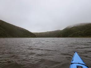 Photo: The paddle back