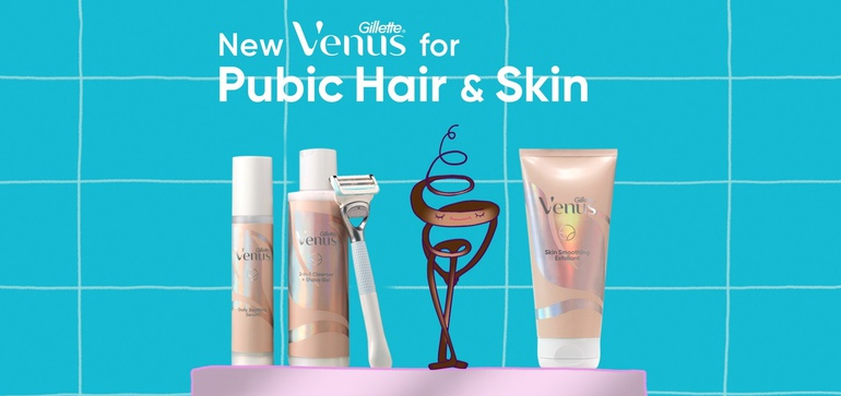 Example of Gillette Venus' best marketing moments of May featuring an animated video to promote their new skin collection