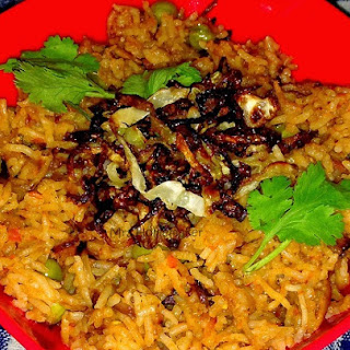 Tomato Rice With Fried Cabbage