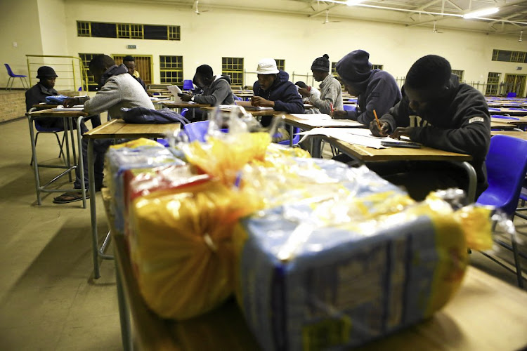 Moses Mnisi High School matric pupils at Acornhoek, in Mpumalanga, camped out at the school for weeks, washed in the toilet block and slept on the floor, all to get good results in their final exams.