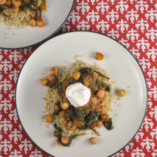 Spinach and Chickpea Curry with Greek Yogurt and Lemon.