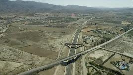 Uno de los tramos del Corredor Mediterráneo entre la provincia de Almería y la Región de Murcia.