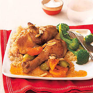 Moroccan Chicken Tagine with Apricots.