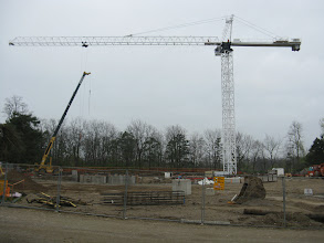 Photo: Tower crane operational, May 1, 2012