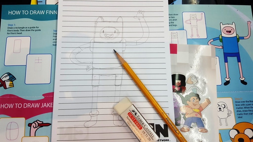 SAMPLE DRAWING WORKSHOP FOR THE ADVENTURE TIME ART FAIR