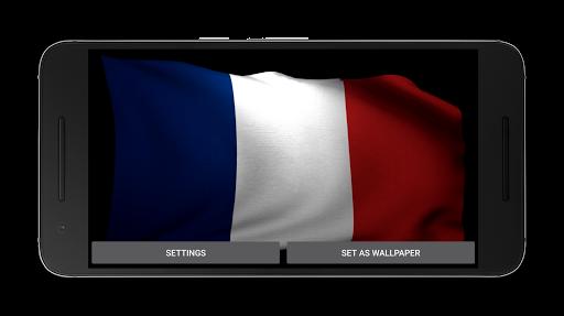 フランスのビデオライブ壁紙の旗