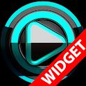 Poweramp widget BLACK Turquois icon