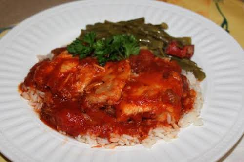 "Chicken and Tomato Gravy ""Made this last night for dinner. Was easy..."