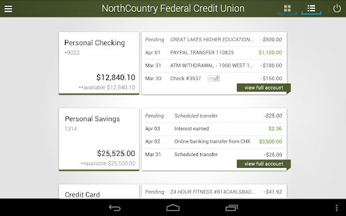NorthCountry Mobile Banking- screenshot thumbnail